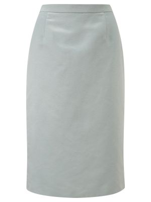 Blue-grey Viyella Petite Ottoman Pencil Skirt.jpg