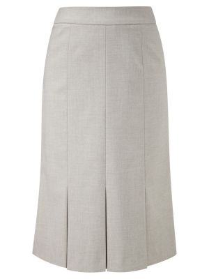 CC Box Pleated Pencil Skirt Natural gray.jpg