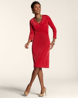 Chicos Womens Scarlet Sun Travelers Classic Rosemary Wrap Dress.jpg