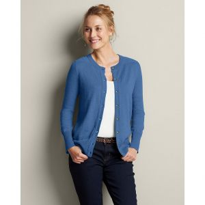 Eddie Bauer Womens Christine Cardigan Sweater Sweater Heather Azure.jpg
