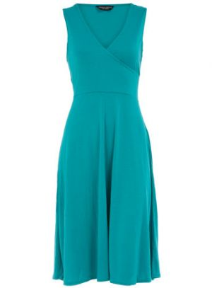 Jade sleeveless wrap dress - Dorothy Perkins.jpg