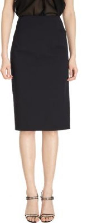 Jil Sander Stretch Pique Pencil Skirt-Black.jpg