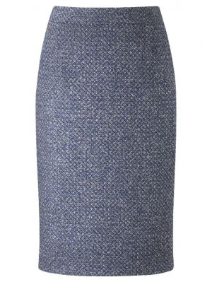 John Lewis Viyella Tweed Pencil Skirt Cobalt.jpg