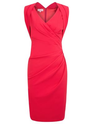 Kaliko Faux Wrap Dress Shocking Pink.jpg