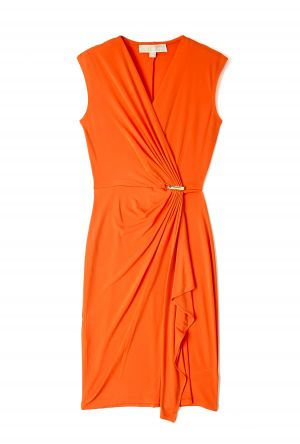 Mandarin Cap Sleeve Wrap Dress by MICHAEL Michael Kors.jpg