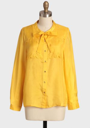 Marigold Bloom Silk Blouse yellow with tie.jpg