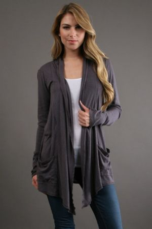 Michael Stars Raw Edge Cardigan grey.jpg