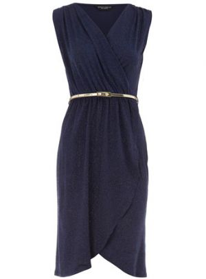 Navy Ink glitter wrap dress - Dorothy Perkins.jpg