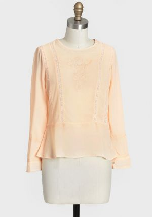 Pauline Embroidered Blouse - pale peach.jpg