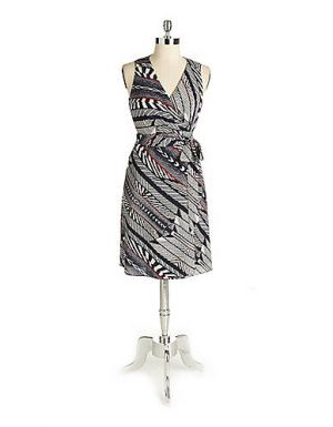 Petite Printed Wrap Dress - Anne Klein.jpg