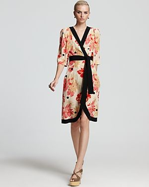 Sonia Rykiel Dress - Short Sleeve Printed Wrap Dress.jpg