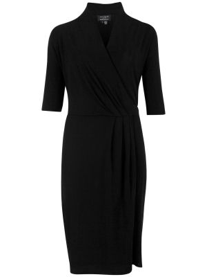 Ted Baker Long Sleeve Wrap Dress Black.jpg