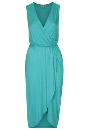 Turquoise TopShop Midi Wrap Dress by Love.jpg