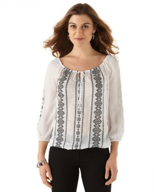 White Black High Contrast Blouse by White House Black Market.jpg