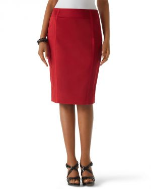 Womens Auburn Cotton Sateen Pencil Skirt by White House Black Market.jpg
