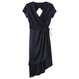 labworks Womens Short-Sleeve V-Neck Wrap Dress - Navy.jpg