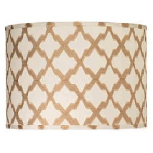 Best decorating blogs - Jamie Young Lighting Lamp Shade Taupe Lattice Drum Large.jpg