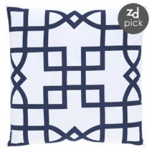 Best decorating blogs - Shop for home decor online - Allem Studio Maze Navy Pillow.jpg