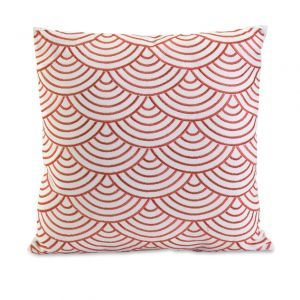 CC Home Furnishings Decorative Coral and White Stacked Scalloped print.jpg