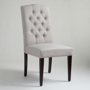 Cost Plus World Market Gray Tufted Chairs Set of 2 via myLusciousLife.com.jpg