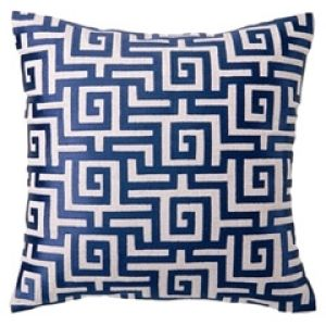 DL Rhein Greek Key Navy Embroidered Linen Pillow.jpg