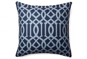 Elegant home decor - Divine Designs Variance 20x20 Outdoor Pillow Navy.jpg