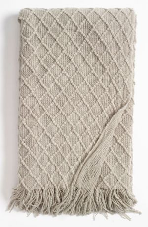 Gray throw - Kennebunk Home Lattice Throw Grey Feather One Size.jpg