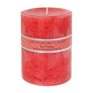 Home decor pictures - Chesapeake Bay Candle Sea Coral Pillar Candle.jpg