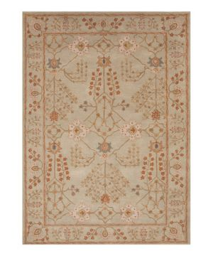 Home decorating ideas- Jaipur Rugs - Light Coral & Gray Tribal Flower Wool Rug.jpg