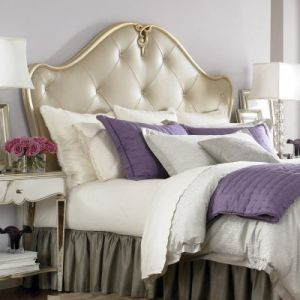 Jessica McClintock Couture Silver Leaf Leather Headboard.jpg