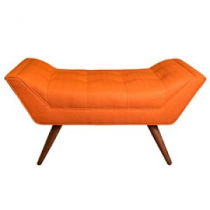Jonathan Adler Whitaker Stockholm Saffron Ottoman - orange bench.jpg
