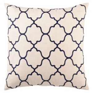 Navy DL Rhein Moroccan Tile Navy Embroidered Linen Pillow.jpg