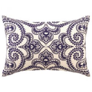 Patterned blue and white DL Rhein Amalfi Navy Embroidered Linen Pillow.jpg