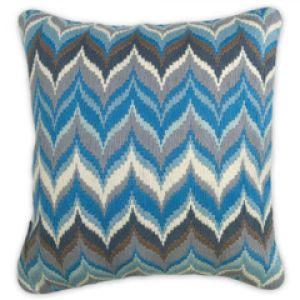 Shop for home decor online - Jonathan Adler Bargello Pillow Flame Blue Grey.jpg