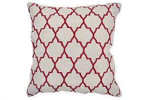 Shop for home decor online - One Kings Lane Kato 22 x 22 Pillow Burgundy.jpg