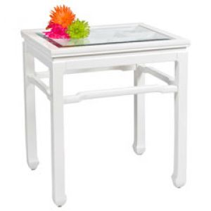Shop for home decor online - Worlds Away Chinright White Side Table.jpg