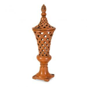 Stylish decor - CC Home Furnishings Coral Ornate Lattice Cutwork Lidded Vase.jpg
