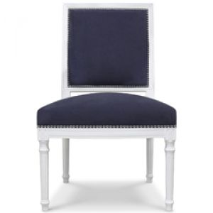 Stylish home - Jonathan Adler Furniture Louis Navy Side Chair.jpg