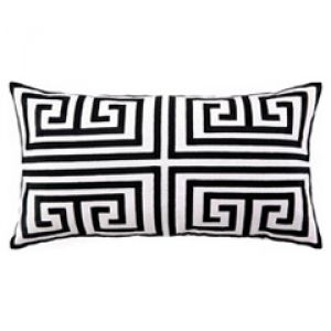 Trina Turk Greek Key Black Embroidered Linen Pillow.jpg