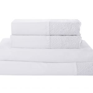 Victoria Classics Capri 4-Piece Sheet Set - Queen Sheet Set White.jpg