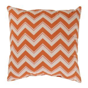apartment decor - CC Home Furnishings Bold Orange Zig Zag Decorative Throw Pillow.jpg