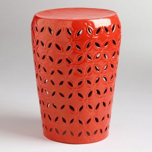 apartment decor - Cost Plus World Market Orange Lili Punched Drum Stool.jpg