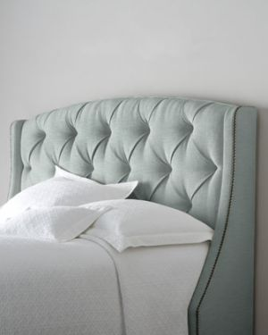 design ideas -  Bernhardt Rami Wing King Tufted Headboard - pale mint green.jpg