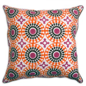 design ideas - Jonathan Adler Bobo Pillow Medallion Pink Orange cushion.jpg