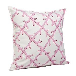 home & garden - Decor - Coral Lattice 20x20 Pillow Pink - Ecoaccents.jpg