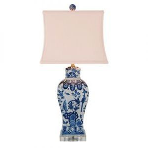 home & garden - East Enterprises LPDBWN1015K - Square Vase Lamp.jpg