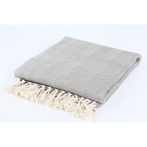 home decorating blogs - Nine Space Herringbone Throw Blanket Grey Cream.jpg