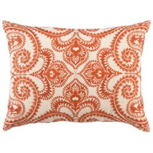 home living - Orange DL Rhein Amalfi Persimmon Embroidered Linen Pillow.jpg