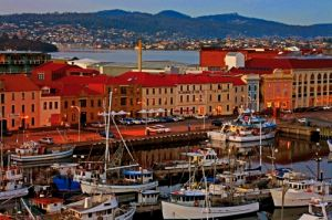 View of the docks in Hobart Tasmania with yachts.jpg