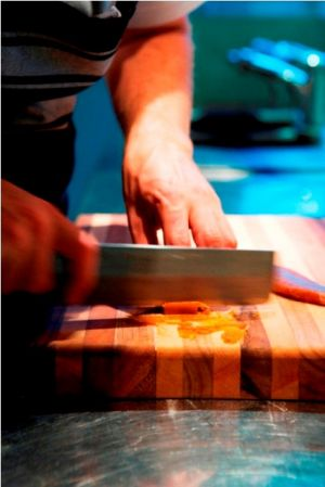 tasmanian hotels - islington central hobart davey street hotel - slicing bottarga.jpg